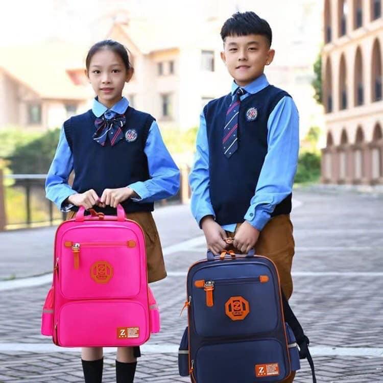 Balo Trung Học (xanh đen, hồng)
