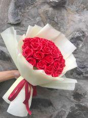 Bó Hoa Hồng Sáp 33 Bông (đỏ)