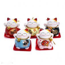 Bộ 5 Chú Mèo Thần Tài May Mắn