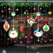Decal NOEL02 – Lá Và Dây Treo Noel