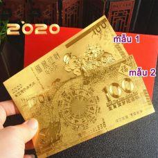 Tiền Mạ Vàng Pastic Con Chuột