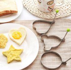 Combo 5 Khuôn inox Chiên Trứng Và Làm Bánh