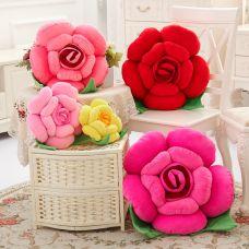 Gối 3D Hình Hoa Hồng 40cm (hồng nhạt, hồng đậm, đỏ, vàng)