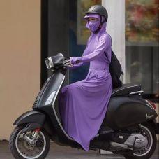 Bộ Áo Khoác Và Váy Chống Bằng Thun Thoáng Mát (xám,xanh rêu, tím, hồng, xanh đen)