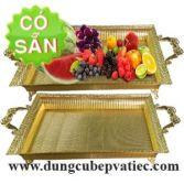 Mâm bày ngũ quả thực phẩm mạ vàng