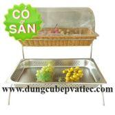 Kệ trưng bày buffet 2 tầng khung inox đặc SG2CT4-350