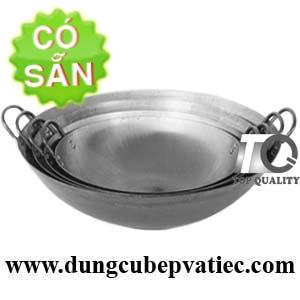 Chảo thép công nghiệp - chảo size lớn cho bếp từ mặt lõm