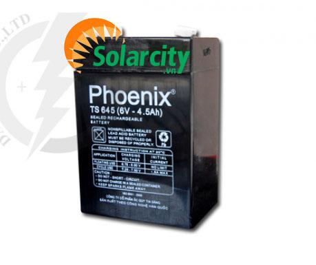 Ắc quy Phoenix 6V-4.5AH (TS645) KÍN KHÍ CN