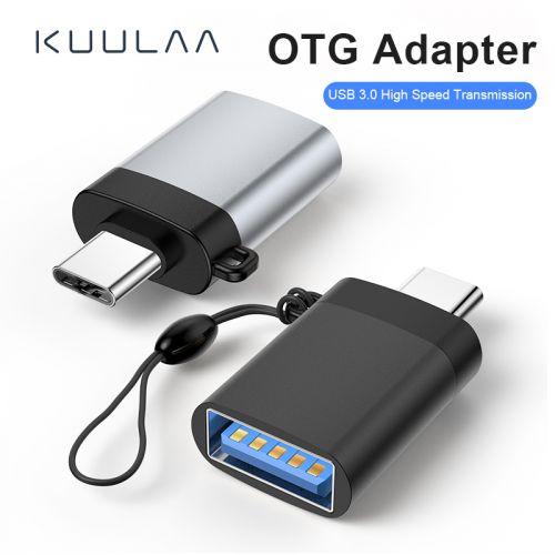 Đầu chuyển đổi KUULAA USB 3.0 Mini từ USB sang Type-C OTG cho Macbook Smartphone