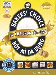 BỘT MÌ BAKER'S CHOICE 1KG - SỐ 11