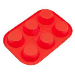 Khuôn Cupcake Silicone 6 Lỗ (24,5x17x4 cm)
