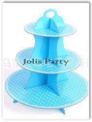 Giá để cupcake bằng bìa - bi xanh nhỏ
