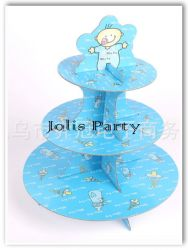 Giá để cupcake bằng bìa - baby boy