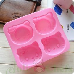 Khuôn Silicone 4 Lỗ Kitty