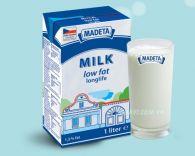 Sữa tươi tách béo Madeta 1l