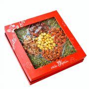Hộp quà hạt dinh dưỡng hộp vuông 4 tim (HV1)