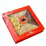 Hộp quà hạt dinh dưỡng hộp vuông 6 vị hoa mơ HV7