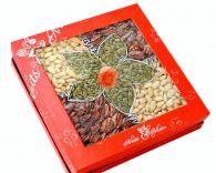Hộp quà hạt dinh dưỡng hộp vuông hoa 5 cánh HV8