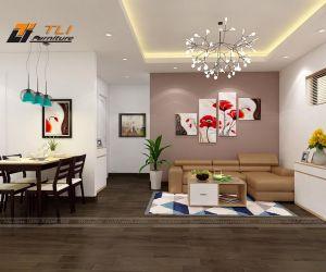 Thiết kế nội thất căn hộ chị Linh - Linh Đàm