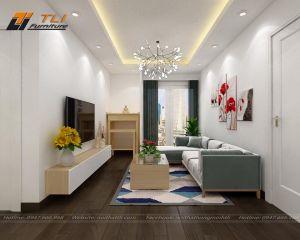 Thiết kế nội thất chung cư hiện đại căn hộ - Anh Công