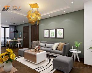 Thiết kế thi công nội thất căn hộ chị Ngọc _ HATECO