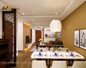 Thiết kế thi công nội thất chung cư, căn hộ ecolife Tây Hồ - Chị Tuyết