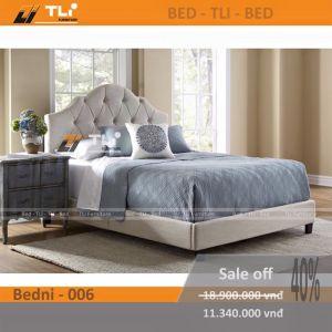 Giường ngủ hiện đại bọc nỉ BEDNI-006