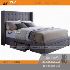 Giường ngủ hiện đại bọc nỉ, giường ngủ bọc nệm
