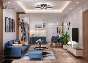 Thiết kế nội thất chung cư anh Huy - Mandarin Garden Tân Mai