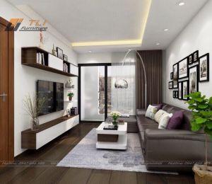 Ấn tượng với thiết kế phòng khách chung cư Bộ Công An