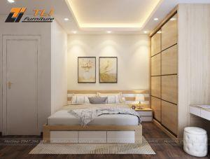 Thiết kế nội thất chung cư Goldseason tòa Spring cho anh Trung