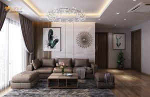 Ấn tượng với thiết kế nội thất chung cư 3 phòng ngủ tại AZ Lâm Viên