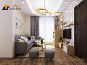Thiết kế nội thất chung cư hiện đại tại An Bình City - Chị Trang