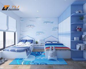 Thiết kế nội thất chung cư 2 phòng ngủ - anh Hưng