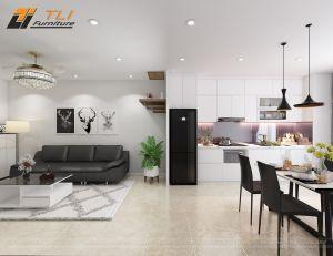 Thiết kế nội thất chung cư hiện đại anh Tuấn Anh - Tứ Hiệp Plaza