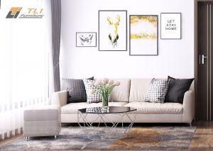 Sofa văng đơn chiếc băng dài bọc nỉ - TLIVN03