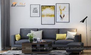 Mẫu ghế sofa văng da giá rẻ - TLIVD04