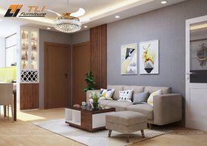 Ghế sofa văng nỉ giá rẻ cho phòng khách nhỏ hẹp - TLIVN05