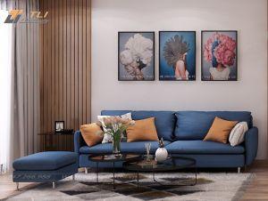 Bàn ghế sofa nỉ giá rẻ cho phòng khách hiện đại - TLIVN09