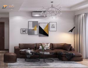 Bàn ghế sofa nỉ hiện đại phòng khách - TLILN08