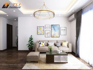 Ghế sofa nỉ giá rẻ kê nhà nhỏ - TLIVN12