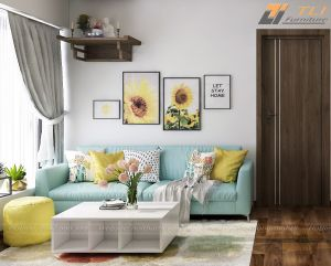 Ghế sofa văng giá rẻ cho phòng khách nhỏ - TLIVN14