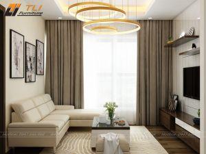 Ghế sofa da đẹp góc chữ L hiện đại - TLILD13