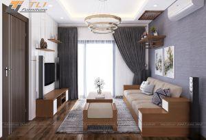 Ghế sofa văng đẹp cho phòng khách sang trọng - TLIVD19