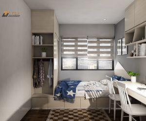 Thiết kế nội thất trang trí phòng ngủ bé trai hiện đại