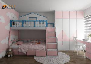 Thiết kế trang trí phòng ngủ con gái đơn giản