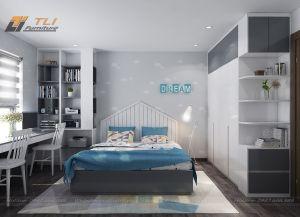 Thiết kế nội thất phòng ngủ con trai đẹp