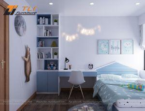 Thiết kế trang trí phòng ngủ bé trai hiện đại