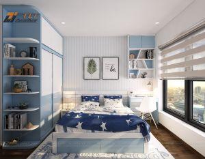 Thiết kế phòng ngủ nhỏ đẹp cho gia đình chị Hạnh