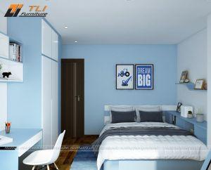 Thiết kế nội thất phòng ngủ con trai hiện đại